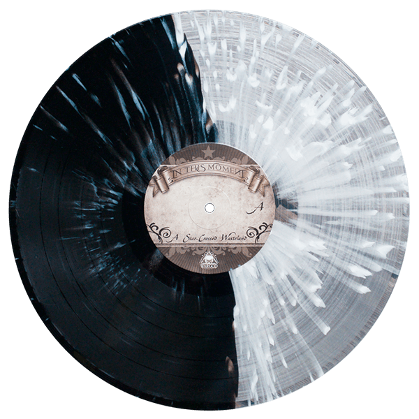 in this moment starcrossed vinyl clear black split splatter