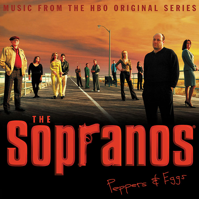 the sopranos peppers & eggs vinyl cover art
