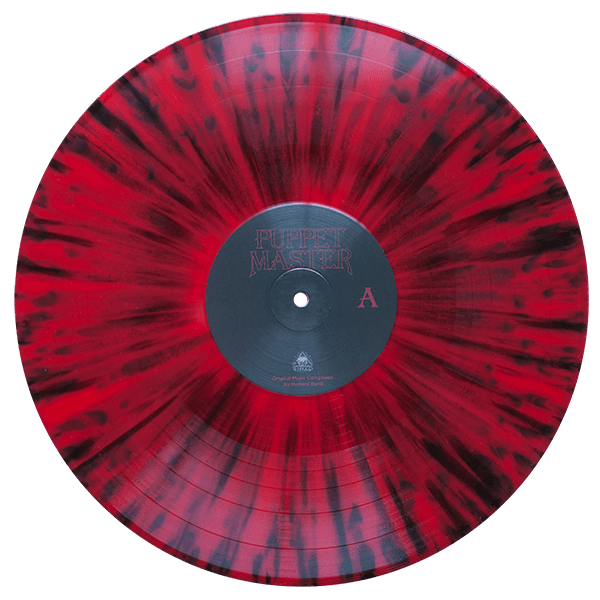 puppet master red black splatter vinyl