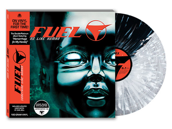 fuel something like human vinyl clear and black with splatter
