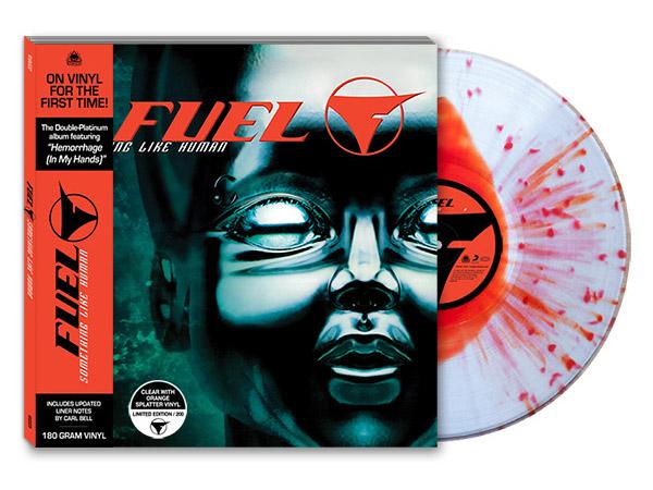 fuel something like human vinyl clear with orange splatter